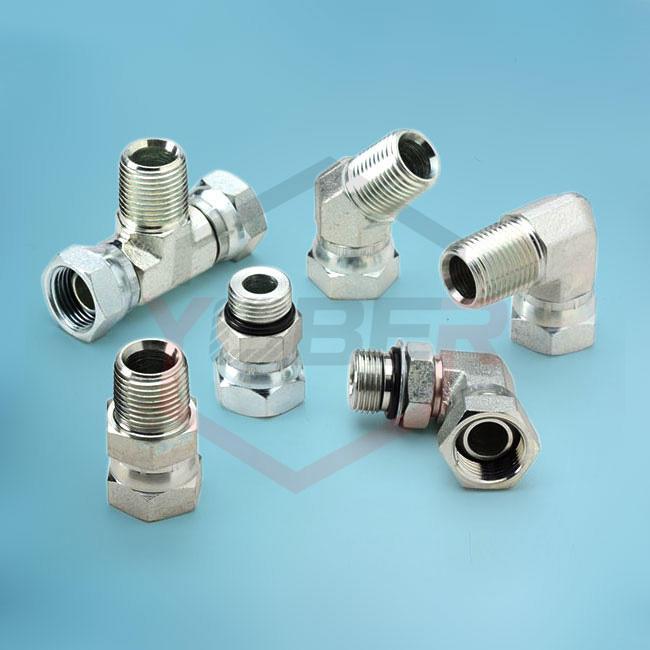 JIC,Metric,ORFS,BSP Male / Female Steel Hydraulic Adapter for Hoses