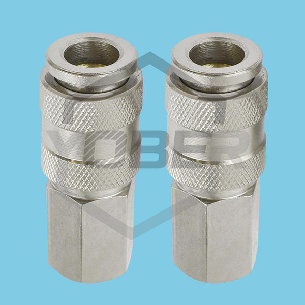 Zinc Plated Air Line Hose Connector 1/4 1/2 BSP Female Euro Female Quick Release Fittings