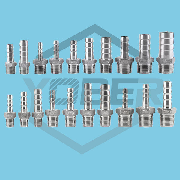 """Stainless Steel Male BSP 1/8"""" 1/2"""" 1/4"""" 3/4"""" 1"""" 1-1/2"""" Thread Pipe Fitting Barb Hose Tail Connector 6mm to 32mm Tools Accessory"""