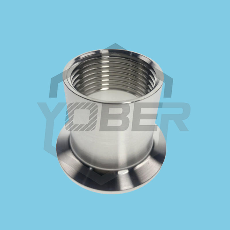 DN15 DN20 DN25 DN32 DN40 DN50 Adapters for heater Sanitary Stainless Steel SS304 Female Threaded Ferrule Pipe Fittings Tri-Clamp