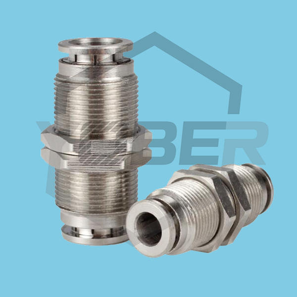 High Pressure High Temperature All-copper Nickel-plated Quick Release Fittings PM-8 Trachea Pneumatic Fitting Straight