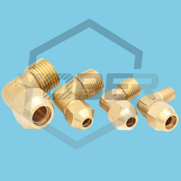 Air-conditioning Refrigeration Accessories All-copper Flared Elbow Fittings Brass Pipe Joint 90 Degree Elbow Tube Quick Twist Connectors