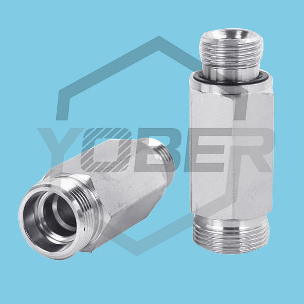 Stainless Steel Hydraulic Oil Pipe Fittings Lengthened High Pressure Hose Fitting Sleeve Male Threaded Adapter Fitting