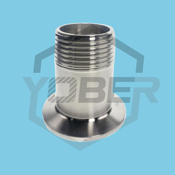 China OEM DN15-DN50 304 Sanitary Stainless Steel Male Threaded Pipe Fitting Ferrule