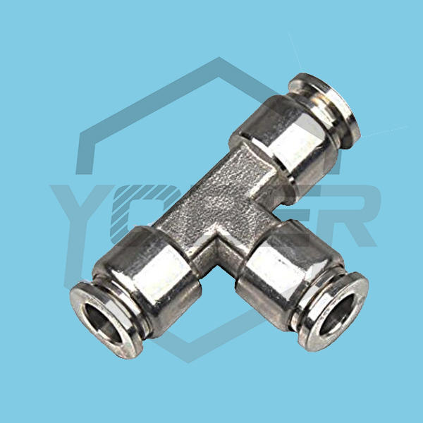 China T Shape Push In To Connect One Touch Fitting Stainless Steel 316 TEE Quick Air Hose Fitting