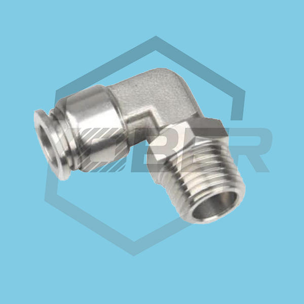 Stainless Steel Fittings Push In To Connect 90 Degree Elbow Push To Connect Fitting One Touch SSL Pneumatic Fittings