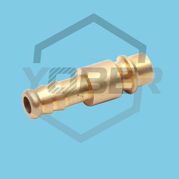 China Wholesale Brass Ferrule Hose Pneumatic Fitting Straight Hex Compression Connector Plug Hose Fitting