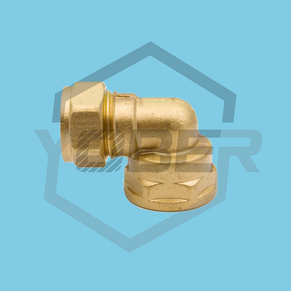 China Manufacturer 90 degree Female Threaded Elbow Forged Brass Compression Pipe Fitting Elbow