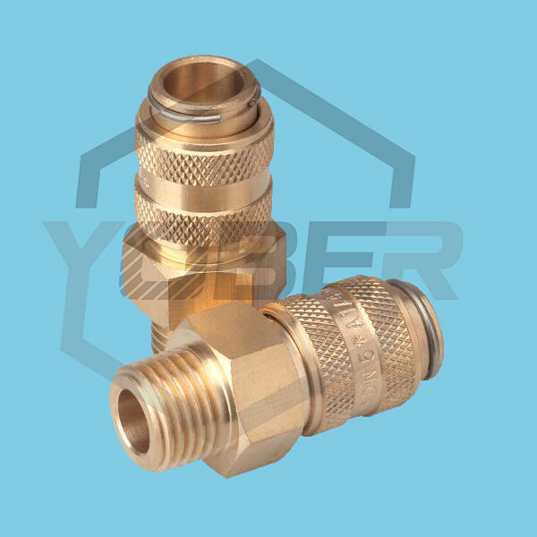 China Manufacturer Brass Fittings Pneumatic DN5 G 1/4 Male Quick Release Connect Coupler