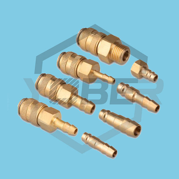China Factory Push In Gas Pneumatic Quick Connectors Release Fittings Brass Coupling