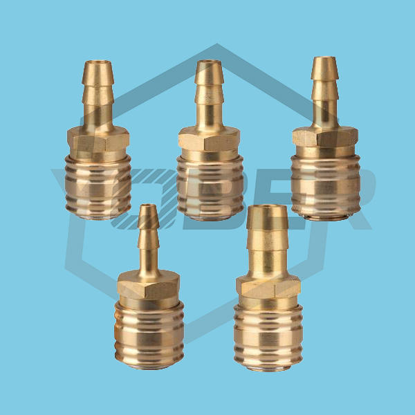 China Supplier Pneumatic Gas Fitting Tube Quick Release Couplings Brass Fittings