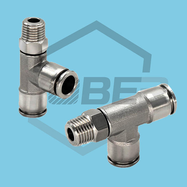 China OEM Stainless Steel Threaded Tee Connector 3 Way Pipe Fitting Male Tube Joints Fittings