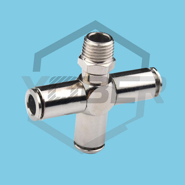 China OEM Cheap Quick Joint Copper Joint Coupler Cooper Pneumatic Fittings with Four Links