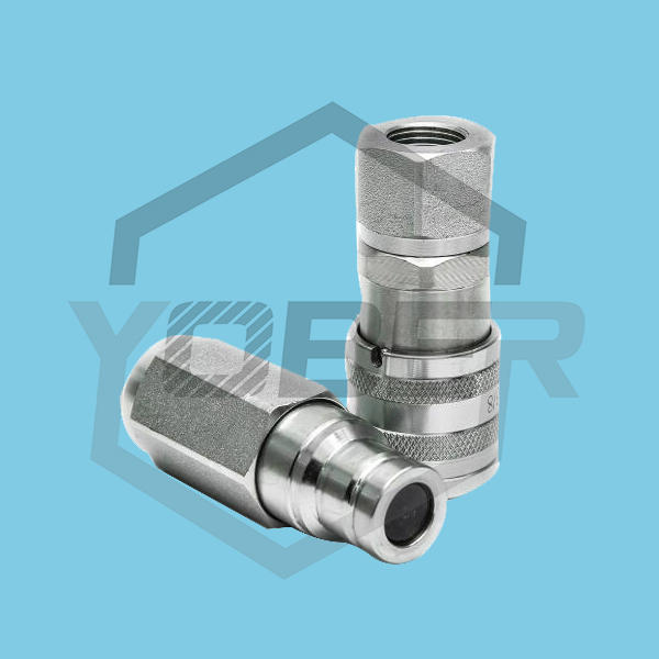 Factory Supply Steel Skid Steer Coupling Flat Face Fittings Male and Female Hydraulic Quick Coupler
