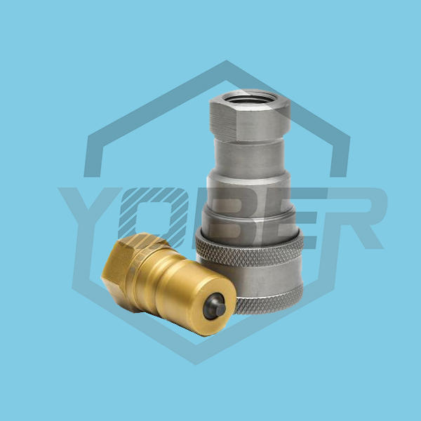 Carbon Steel Hydraulic Fittings China Supplies Hhydraulic Quick Coupler for Wheel Loader Screw Connect and Pull Break Couplings