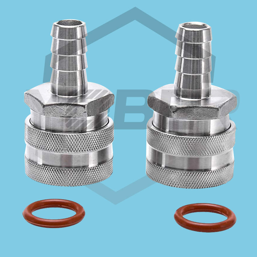 "1/2"" Barb Female Quick Connector Stainless Steel Fittings Home Brew Fitting Connectors"