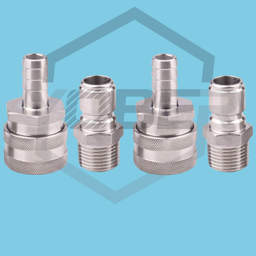 Barb Female MPT Male Stainless Steel Quick Disconnect Set - Beer Brewing Connector Kit