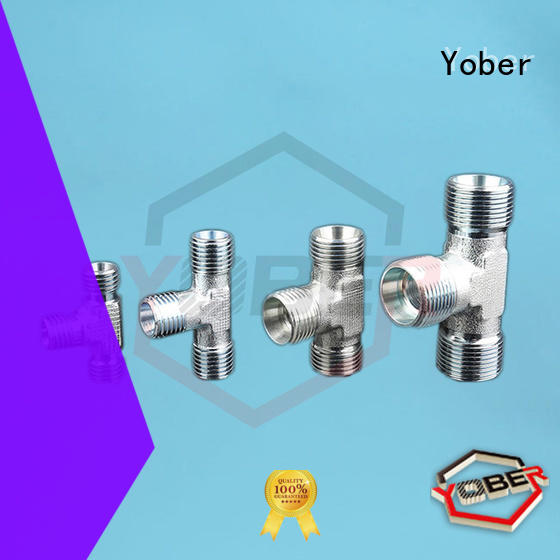 Yober male and female threaded hydraulic fittings design for agricultural machines