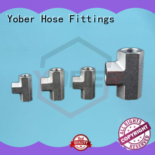 Yober stainless hose fittings directly sale for agricultural machines