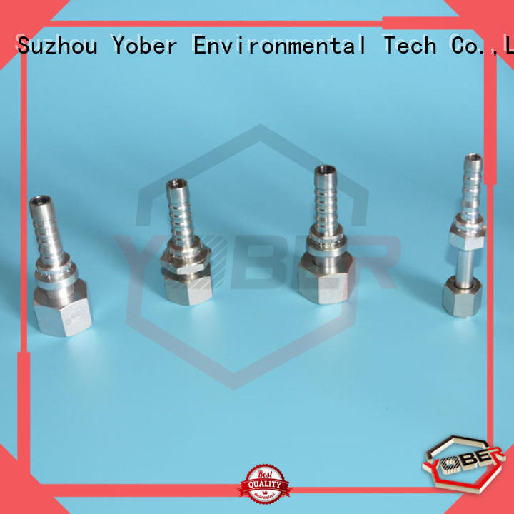 Yober flange hydraulic fittings customized for agricultural machines