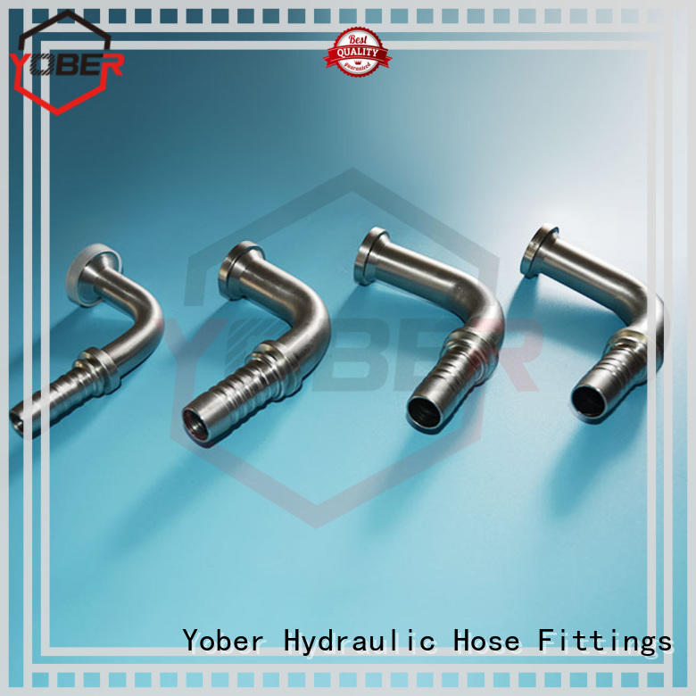 Yober stainless steel flange hydraulic fittings customized for machine tools and industrial plants
