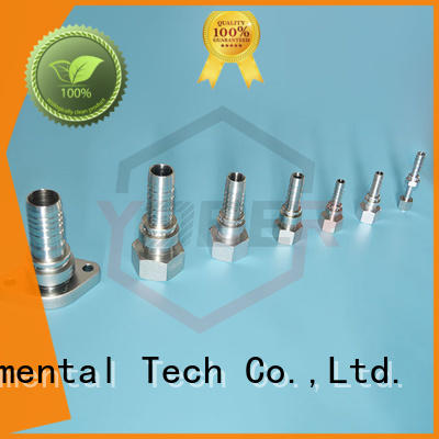 Yober stainless steel hydraulic fittings customized for washdowm