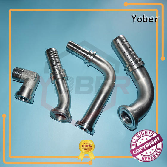 Yober 45°bent hydraulic fitting sizes directly sale for agricultural machines