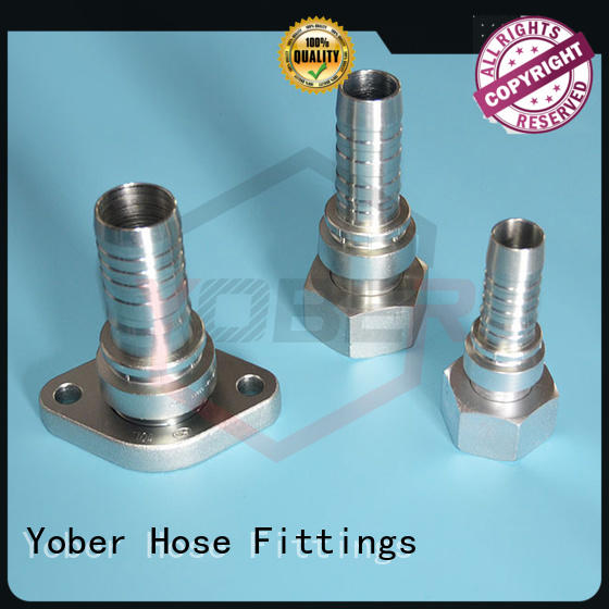 Yober 45°bent hydraulic tube fittings directly sale for machine tools and industrial plants