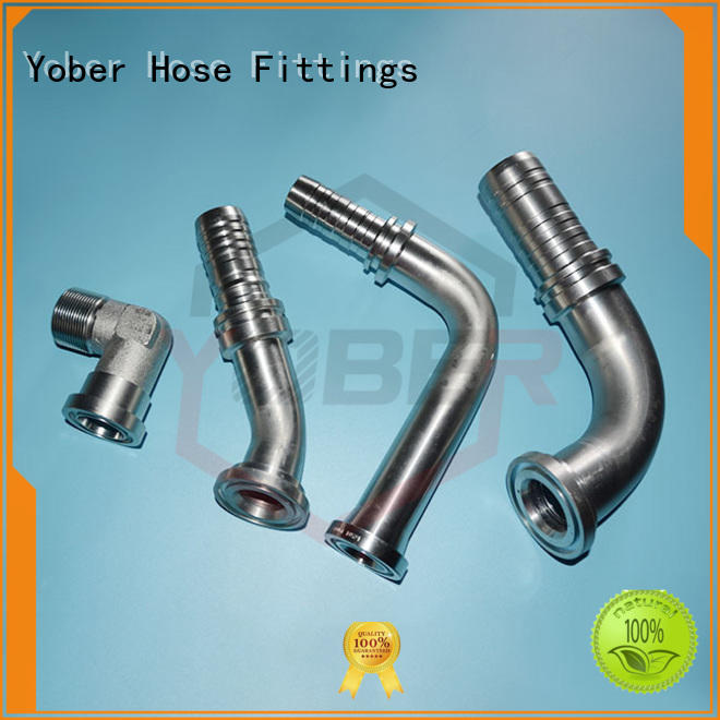 Yober stainless steel flange hydraulic fittings design for aircraft refueling
