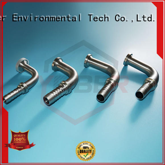 45°bent hydraulic fitting types series for machine tools and industrial plants